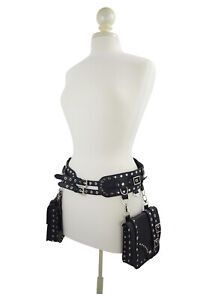 Restyle Western Steampunk Hip Saddle bags Double Buckle Wide Utility Belt Bag