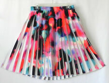French Connection Skirt Multi-Color Pleated Poly Size US 8