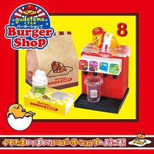 Re-Ment Sanrio Gudetama Burger Shop Miniature Full Toy 8pc