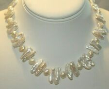 Authentic Simply Pearls Baroque Pearl Necklace 16-Inch By Simply Marcella NIB