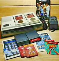Mattel Intellivision II Video Game Console Model 5872 Tested with Games & Power
