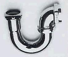 "BrassTech 302/26  1-1/2"" x 1-1/2"" LA Solid Brass P-Trap without Flange"