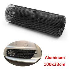 100x33cm Black Aluminum Grille Net Hexagonal Mesh Grille Section For Car Vehicle