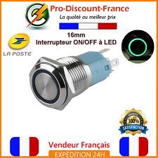 1 Bouton Poussoir Interrupteur VERT LED Métal 5v - 220V 5A Arduino Voiture 12v