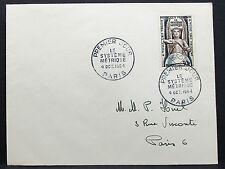 France COVER FDC paris le système metrique stamp 30f France lettre (h-7694