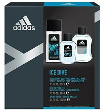 Adidas Ice Dive for Men -Deodorant Body Fragance + Eau De Toilette + After Shave
