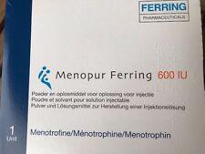 Menopur Ferring 600IU médicament pour FIV, neuf et fermé, non utilisé.