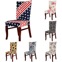 AB_ Elastic Flower Hotel Home Room Wedding Banquet Party Seat Chair Cover Slipco