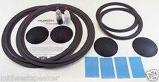"JBL 4344 - 15"" Woofer & 10"" Mid Foam Speaker Repair Kit w/ Shims & Dust Caps!"