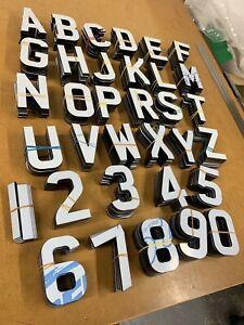 4D LASER CUT LETTERS NUMBER PLATES/SIGNS adhesive 5mm BLACK 175 PIECE BULK PACK