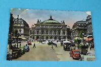 Alte AK PARIS - la place et le théàtre de l`Opera- Autos - Bahn -ungelaufen (51)