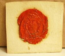 Famille de Martin Cachet de cire armoirie seal Sceau héraldique blason
