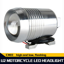 Silver Bright 12V 30W CREE U2 LED Beam Laser Light For Motorcycle Car Waterproof