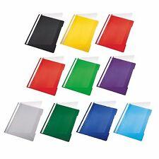 10 x Leitz 4191 Schnellhefter DIN A4 aus PP, transparenter Deckel, Farbe wählbar