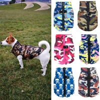 Winter Dog Clothes Waterproof Dog Coat Jacket Warm Camo Pattern Puppy Clothes