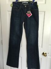 NWT Express Women Jeans Low Rise Dark Wash Medium Flare Sz 4 Long