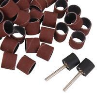"""100pcs 1/2"""" Drum Sanding Wheels Bands Tools Mini Rotary Drill 2 Mandrels"""