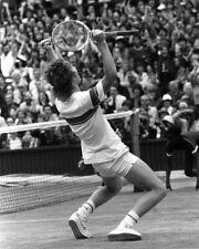 John Mcenroe B&W Winning Wimbledon Tennis 16x20 Canvas Giclee