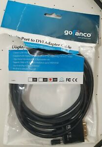 New Display Port DP to DVI Cable Cord DVI Adapter 10ft Gold-plated Open Package