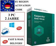 Kaspersky Antivirus 2020 3 PC 2 Jahre  EU / DE KEY CODE