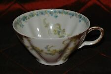 Haviland Limoges France Cup White ,Gold  Blue Flowers Manufacturers Mark H