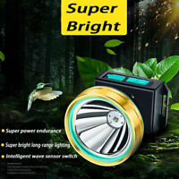 T6 Led Headlight Waterproof Head Lamp USB Rechargeable Torch Work Flashlight New