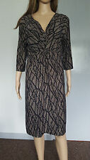 PEACOCKS black brown everyday dress size 18