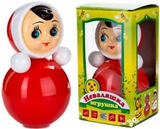 """Classic Nevalyashka Tumbler Little Girl Roly-Poly Toy With Sound, 9"""" (M Size)"""