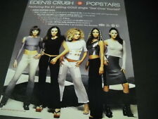 Eden'S Crush are sexy Popstars 2001 Promo Poster Ad mint condition