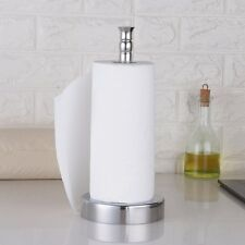 Stainless Steel Wall Mount Paper Towel Holder Bathroom Kitchen Tissue Rack Hook