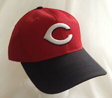 Official MLB CINCINNATI REDS CAP Black Red size Adult M/L Embroidered logo