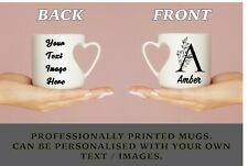 More details for your name initial letter personalised mug photo text custom coffee tea cup gift