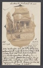 US Sc 300 on 1900 real photo advertisement with note for house for sale in NYC.