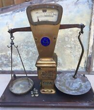 More details for antique shop counter autobac true weight system tobacco scales~mahogany base