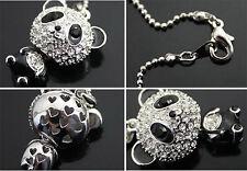 Lindo Kitsch Panda Collar De Niña Mujer Joyas Cristal Estrás Colgante UK