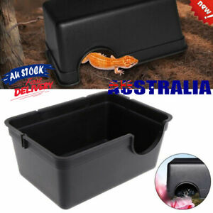 Reptile Gecko Snake Decor Set cave hide food dish water bowl Moss Box S/L Cave