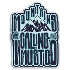2 x 10cm Mountains Ski Snowboard Vinyl Stickers - Sticker Luggage Travel #19248