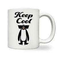 Keep Cool White Ceramic Mug Funny Penguin With Sunglasses Cute Gift For Kid