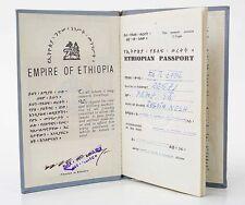 Rare original Haile Selassie travel passport lion of Judah without holder Ethiop