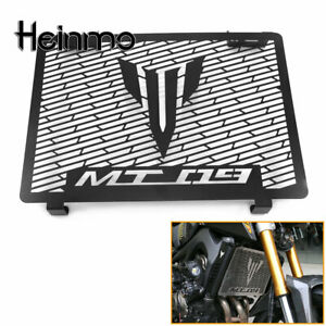 CNC Radiator Grille Guard Protection Cover Black For Yamaha MT09 FZ09 2014-2020