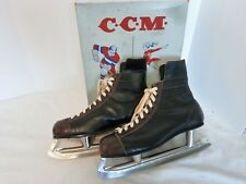 Vintage 1950's -60's Size 12 CCM Men's Hockey Skates In Box from Canada
