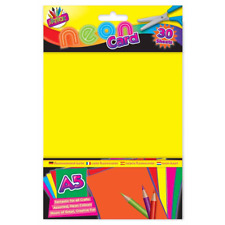 A5 NEON YELLOW ACTIVITY CARD 30 SHEETS ART PAPER CRAFT OFFICE COLLAGE USE
