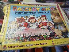Vintage Colorforms Raggedy Ann Pop Up Tea Party