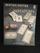 Cross Stitch Pattern Leaflet: Beatrix Potter Miniatures Green Apple Co. 598