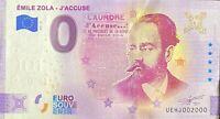 BILLET 0  EURO  EMILE ZOLA  - J'ACCUSE ANNIVERSARY FRANCE 2021 NUMERO 2000