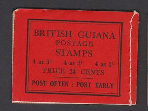 BRITISH GUIANA 1945-49 24c COMPLETE BOOKLET SB9e.