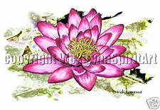 Lotus Flower T-Shirt: Water Lily Spiritual Perfection Power Purity Enlightenment