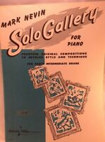 Vtg Piano Sheet Music Mark Nevin Solo Gallery Belwin Mills 14 Compositions Early