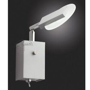 LED Applique Murale avec Interrupteur Mur Spot Lampe de Lecture Aluminium