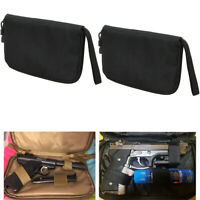 2X Hand Gun Pistol Carry Case US Army Tactical Padded Pouch Storage Hunting Bag